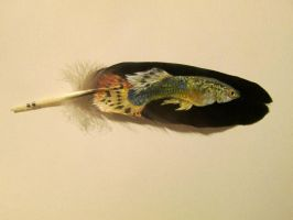 Painted Fish Feather by JewishPeril