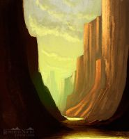 Canyon - speedpaint by Syntetyc
