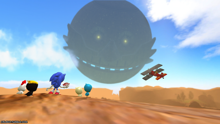 Death Egg Over Dust Hill Zone by Lekonua