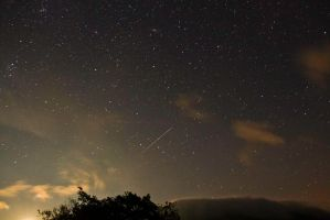 Perseid in the Scottish Sky by BusterBrownBB
