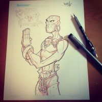 Commish 127 WIP 01 by RobDuenas