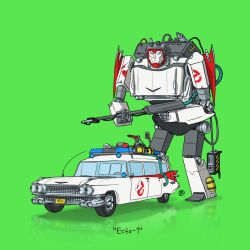 If They Could Transform - Ecto-1 by darrenrawlings