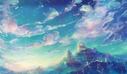 Beyond the Clouds and Far Away by Fany001