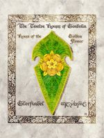 Middle-earth heraldry: Glorfindel (Golden Flower) by Aglargon