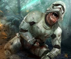 Damaged Stormtrooper by ACe by Nathan123qwe
