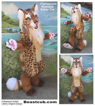 Flamepoint Saber Cat by LilleahWest