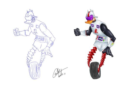 Gizmoduck  Duck Tales by Tureta