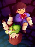 SPEEDPAINT // Frisk and Chara by jaaychaan
