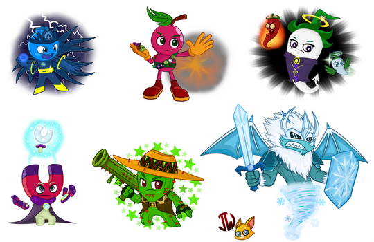 Pvz heroes Oc (Jackie) collection #5 by NgTTh