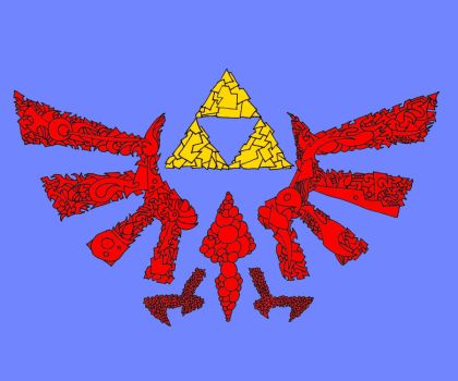 Ink Triforce (Color) by bbd127