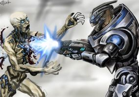 Garrus Vakarian - Kill em all WIP by efleck