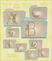 kate greenway alphabet folders by seven4soul