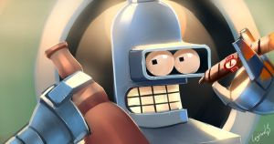Bender  - Futurama by LoginovLS