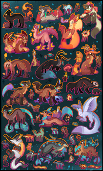 51 FREE creature adoptables CLOSED by Roxalew