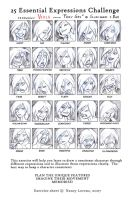 25 Expressions Challenge Viola by ritam