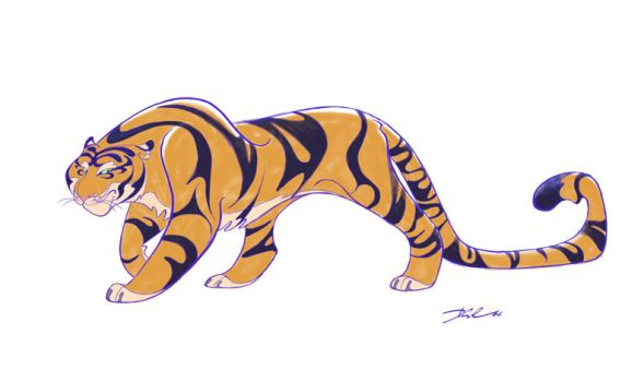 Tiger_Class of 3000 by davidsdoodles