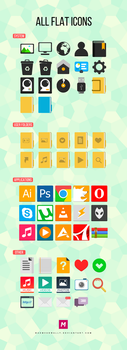 All Flat Icons (The complete set) by Mahm0udWally