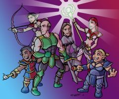 Cast of The Guild in Character by mastermatt111