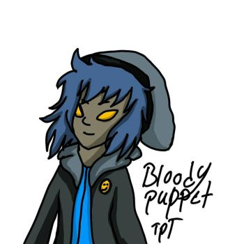 bloody painter and puppeteer fusion by The-Puppet-Tash