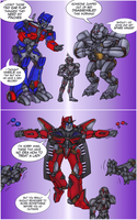 Ultron meets some Transformers by RazzieMbessai