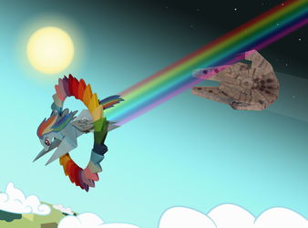 Rainbow Falcon origami - Tribute to ChrisTheS by Malte279