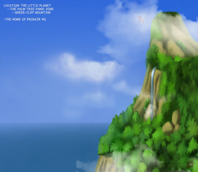 Sheer Cliff Mountain -- Palm Tree Panic Zone by FireheartTheInferno