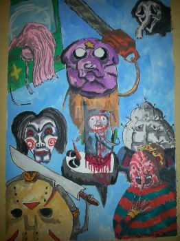 Adventure Time Horror by bedlamnac