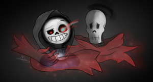 Dust!Sans and Dust!Papyrus by Maja-TheHoneyBee
