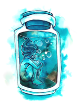 Suffocating - Bottled up emotions by Namtia