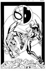 SpidermanDeadpool001cover by MarkMorales