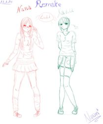 Just a little Sketch for a remake :3 by KazuNana