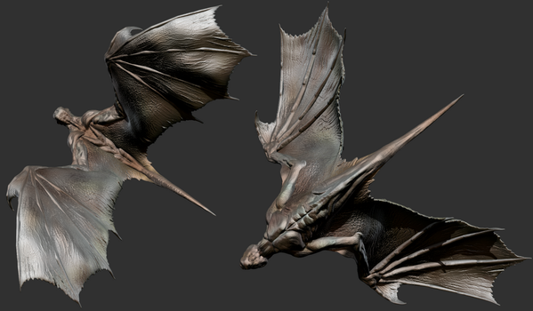 ZBrush - Wings Study 2 by Rebecca1208