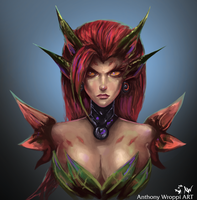 Zyra - League of Legends by Wroppi