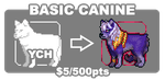 [INFO] $5 Fullbody Pixel Canine YCH [OPEN] by Shalmons