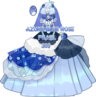 Azure Blue Rose Pearl (closed) by MeruRei