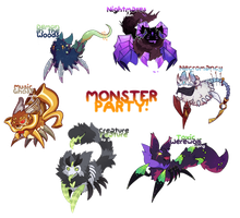 [Closed] Pacapillar Monster Party Auction! by toripng