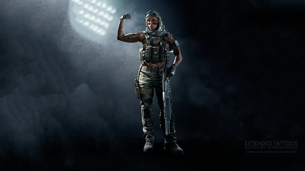 Valkyrie-R6-ExtendedTattoos-ByUnrealVision-SFW by UnrealSimulation