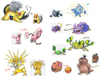 Pokemon fusions by not-fun