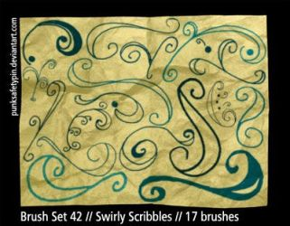 Brush Set 42 - SwirlyScribbles by punksafetypin