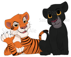 JB: Bagheera and Shere Khan by The-PirateQueen