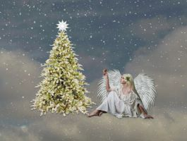 Angel Of Christmas by Shirley-Agnew-Art
