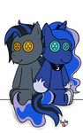 Nightwind and Princess Luna (Commission) by KayleeA