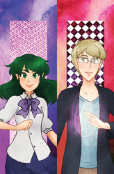 Aster and Fox Bookmarks by kabocha