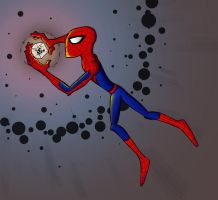 Spidey and the Cosmic Cube by Linkhare