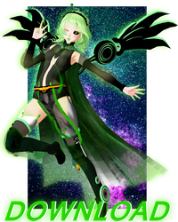[MMD] Halloween collab 2018\TDA Gumi The Alien DL by Natsumy-Paradise