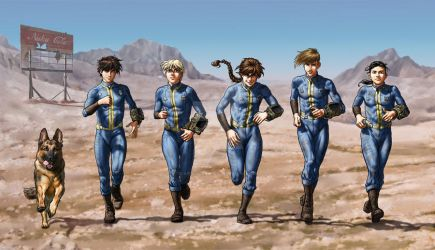 Gundam Wing Fallout Crossover by SapphireGamgee