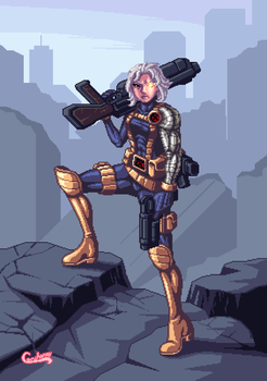 Cable for the superheroe Genderbender collab by Cecihoney
