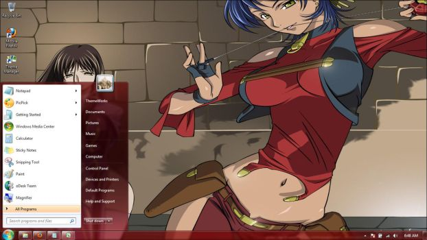 Anime-girls-31 Windows 7 theme by windowsthemes