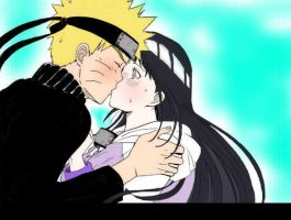 NaruHina-Kiss by Nana021