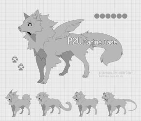 Canine puppy base - P2U 16 by Shinzessu